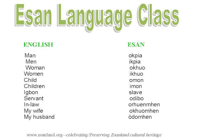 ESAN LANGUAGE CLASS