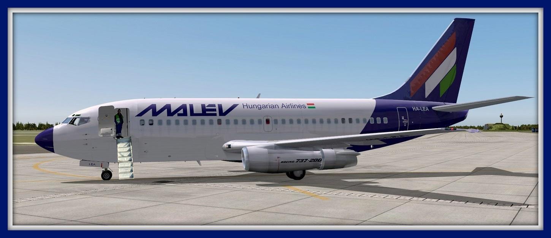 FS2004 screenshots Sweden: Malev Boeing 737-200
