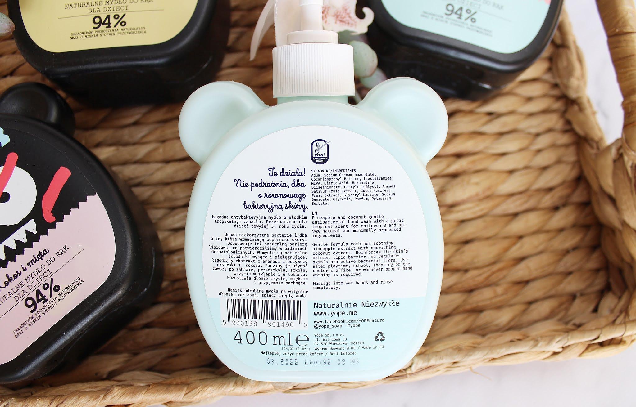 mydła dla dzieci yope