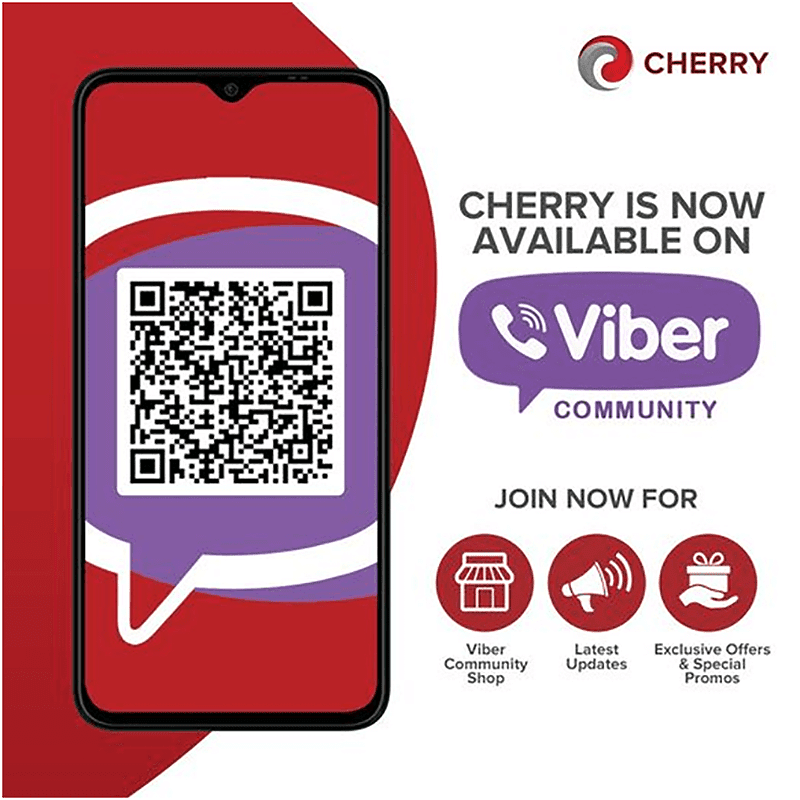 Cherry now available on Viber with exclusive promos this March
