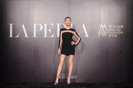 Top Chinese model You Tian Yi arriving for the La Perla Spring/Summer 2018 collection launch.