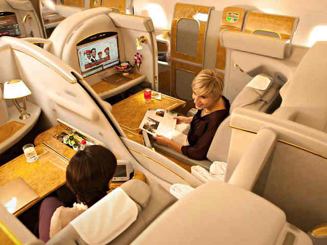 Emirates Airbus A380 First Class Suite Center Seat First