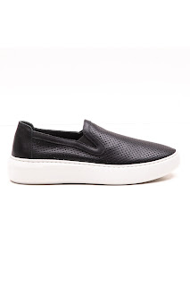 bayan bağcıksız siyah ayakkabı