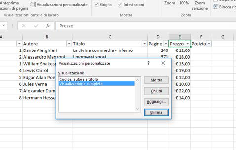 Come ordinare o filtrare i dati in excel