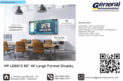 "HP LD5512 55"" 4K Large Format Display"