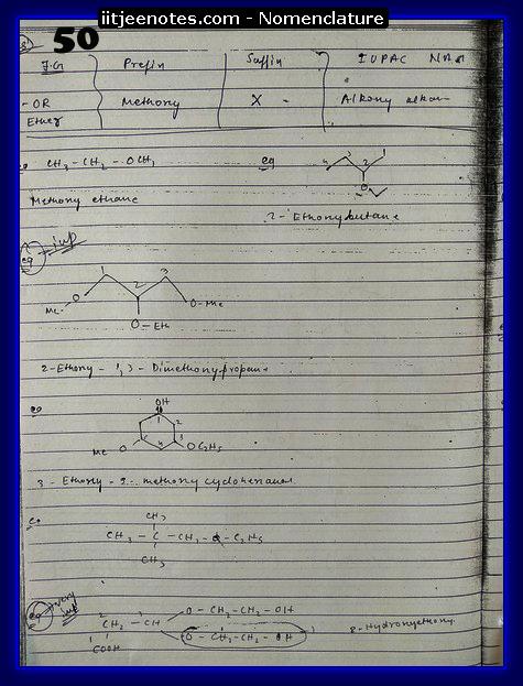 nomenclature organic7