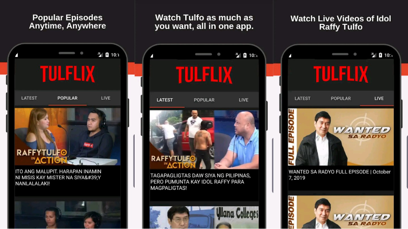 Binge-watch Raffy Tulfo in Action on Android