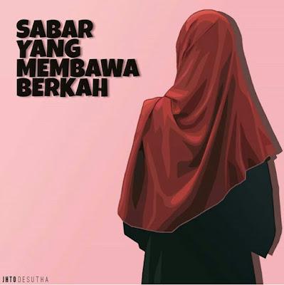 DP BBM Wanita Muslimah Sabar