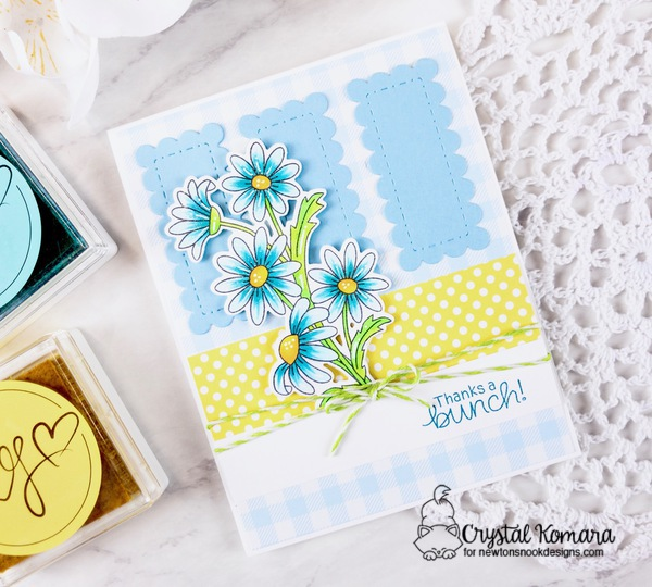 Thanks a bunch by Crystal features Dainty Daisies by Newton's Nook Designs; #newtonsnook