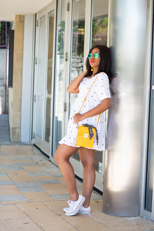 summer fun dress, white converse, www.jadore-fashion.com
