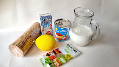 ingredientes tarta de limon con galletas
