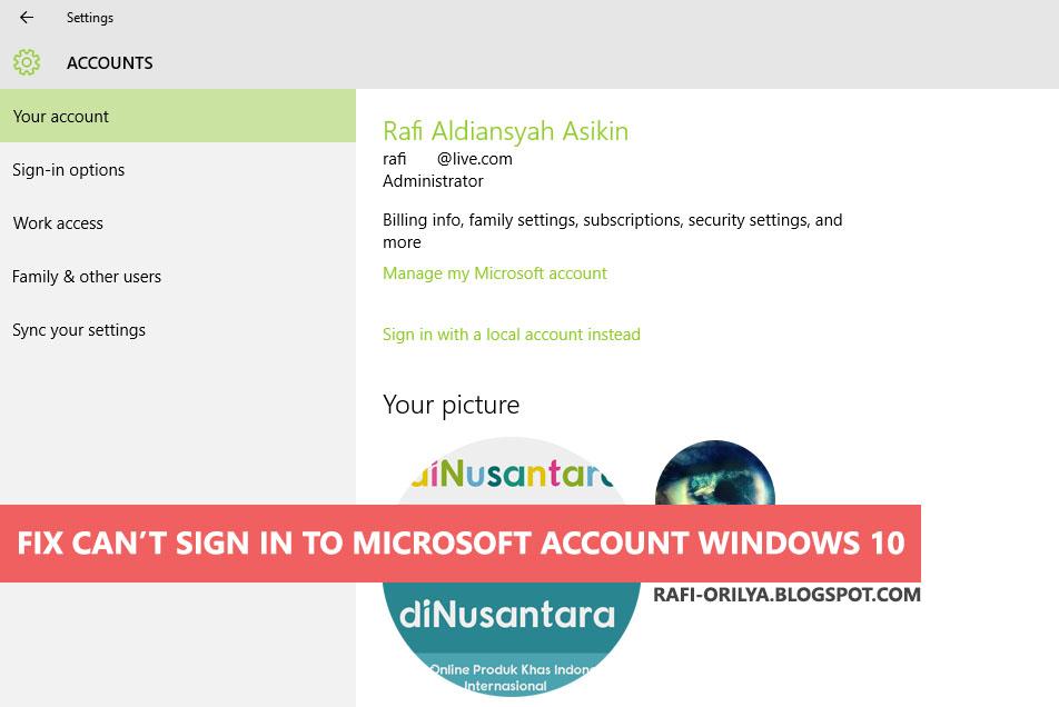 Mengatasi Error Sign In Microsoft Account Windows 10