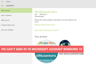 HOW TO FIX CANT SIGN IN TO MICROSOFT ACCOUNT WINDOWS 10