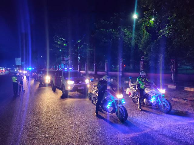 Blue Light Patrol Gabungan Jaga Kamtibmas Idul Adha 1442 H