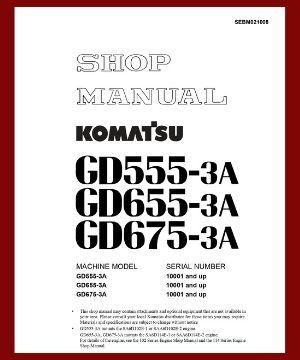 Shop Manual GD555-3A GD655-3A GD675-3A