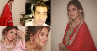 Newly Wed Couple Hina Altaf and Agha Ali Pictures after Wedding