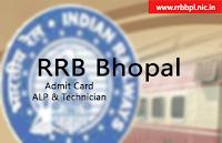 rrb bhopal alp admit card 2018 rrbbpl.nic.in
