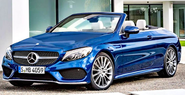 Mercedes-Benz C200 Cabrio 2017 frente azul rey