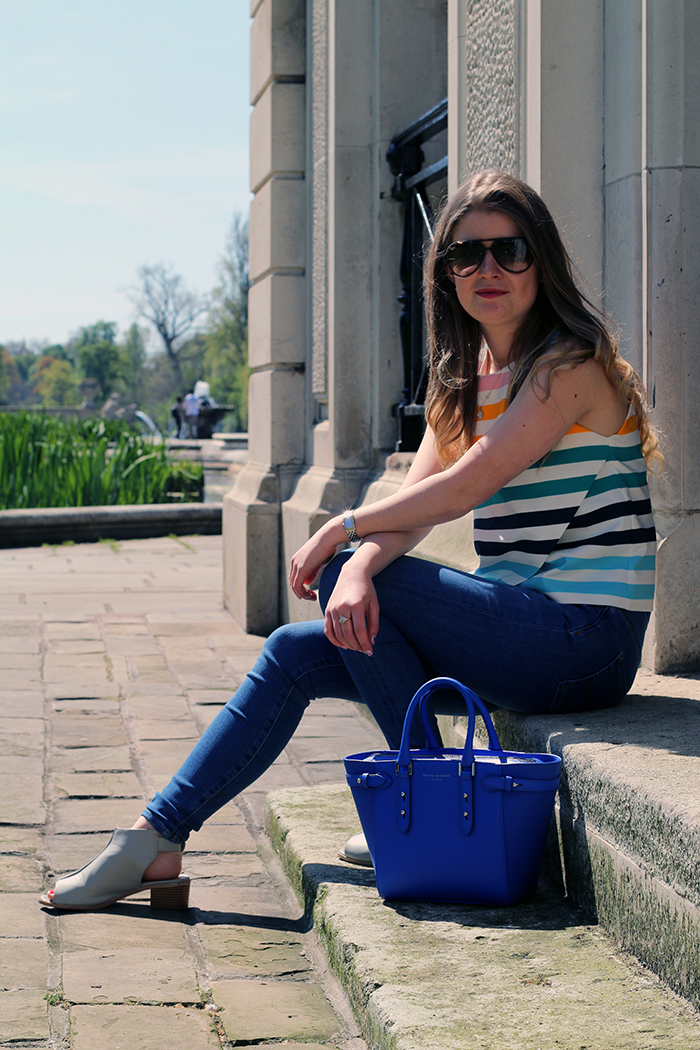 zara stripe top fashion blogggers
