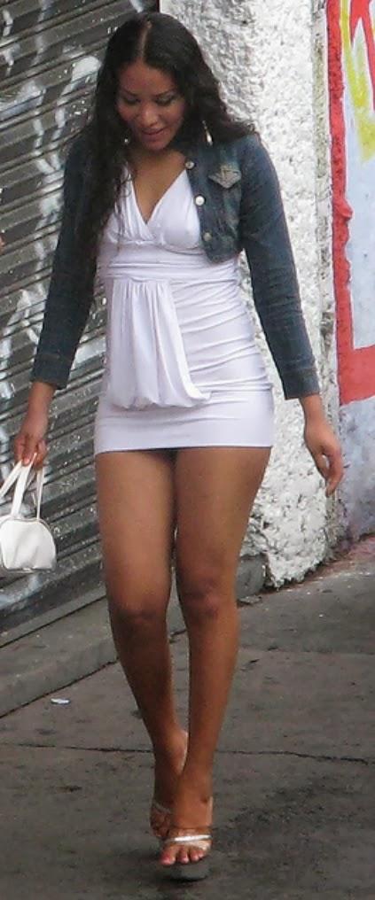 Super short skirts in public