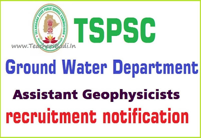 TSPSC,Assistant Geophysicists,Online application form