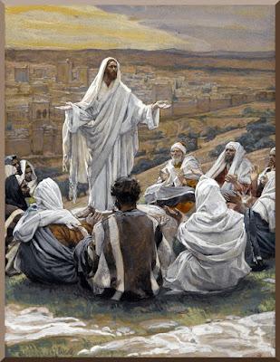 Jesus teaching the Lord's Prayer
