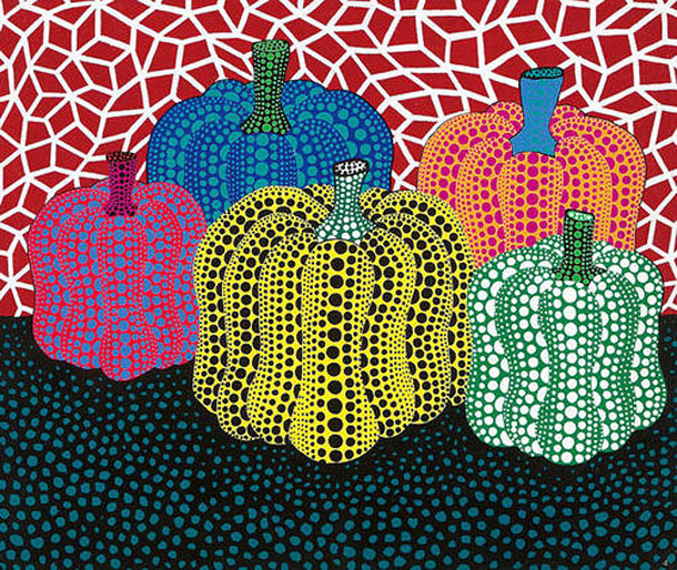 Image result for yayoi kusama dotted pumpkins