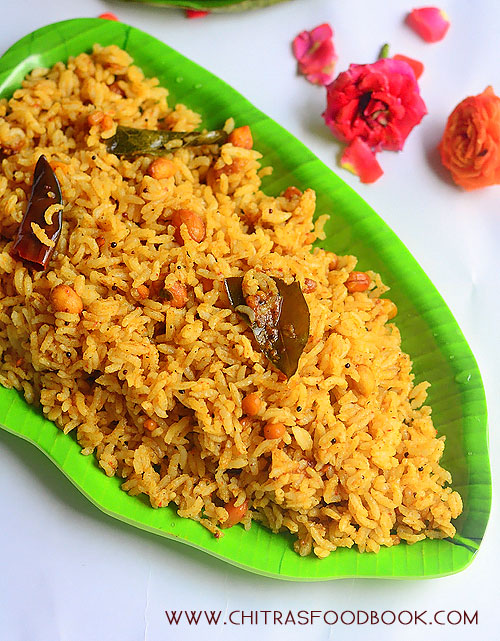 Temple style tamarind rice recipe