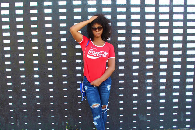 How to style a Coca Cola T-shirt casual