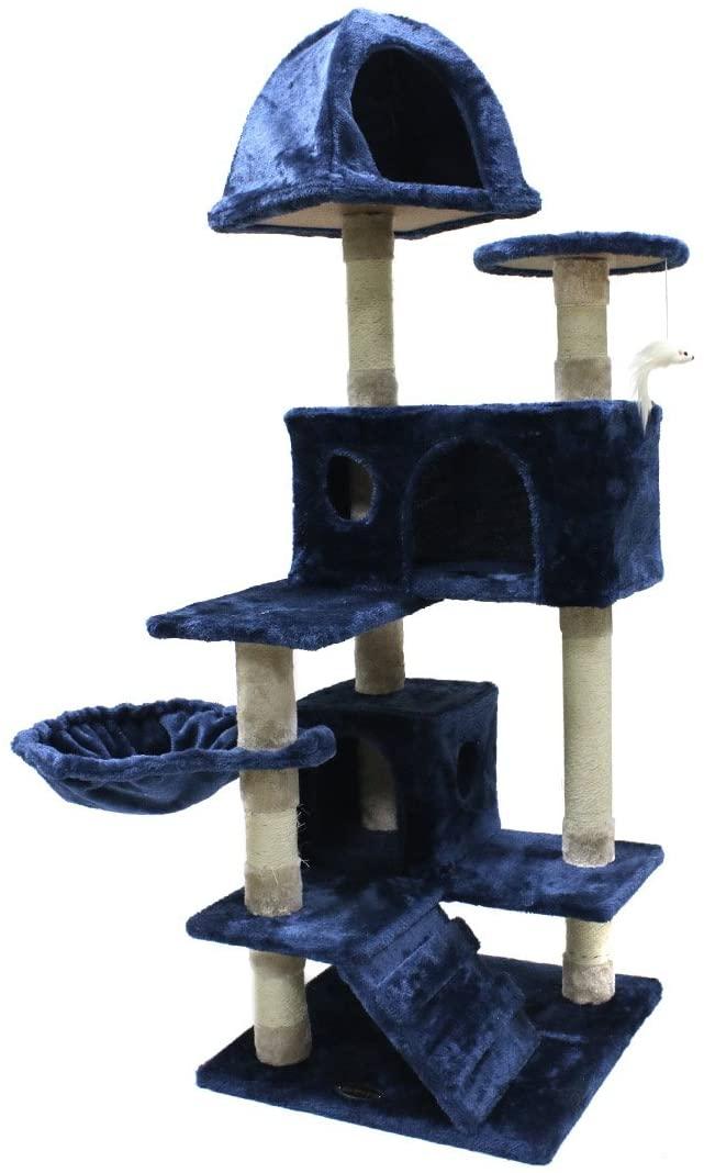 50% off Blue 51 inch cat tree