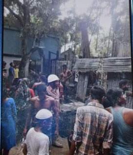 সরিষাবাড়ীতে বৈদ্যুতিক শর্টসার্কিট হয়ে অগ্নিকান্ড | TIMEBDINFO