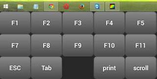 Cara munculkan menu fungsi keyboard teamviewer android