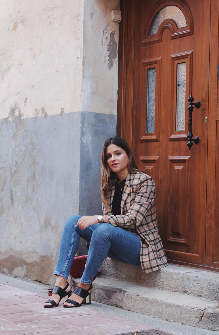 americana cuadros look moda otoño 2019 blog