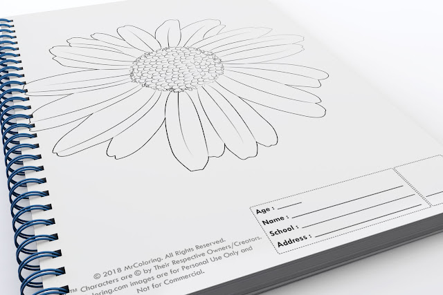 printable flower template outline coloriage Blank coloring pages book for girls pdf pictures to print out for kids to color fun colouring page kindergarten