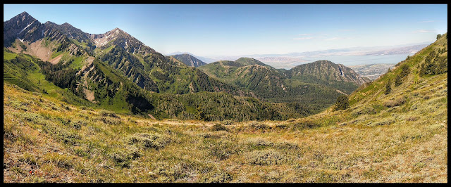 Panorama of Freedom Peak and Provo Mountain from Cascade Saddle