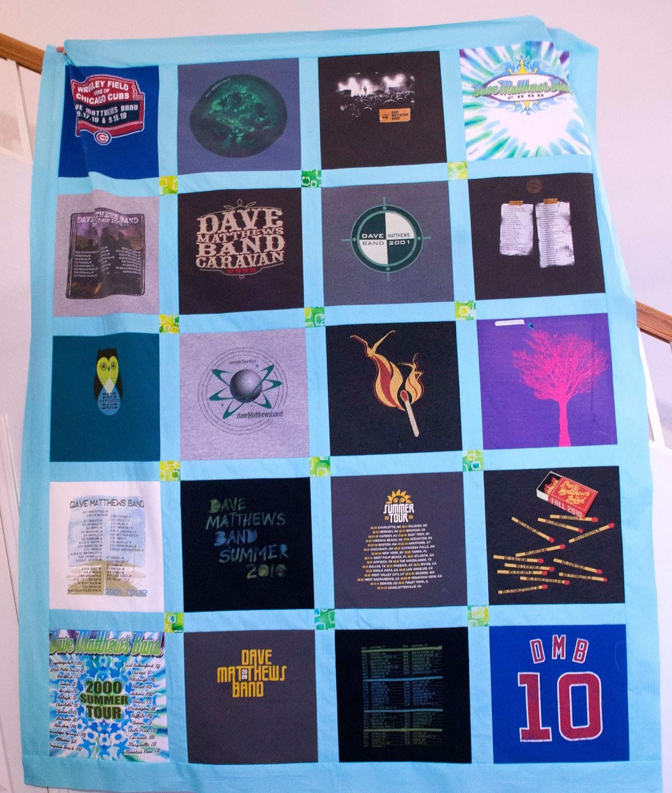 Tee Shirt Quilt Tutorial