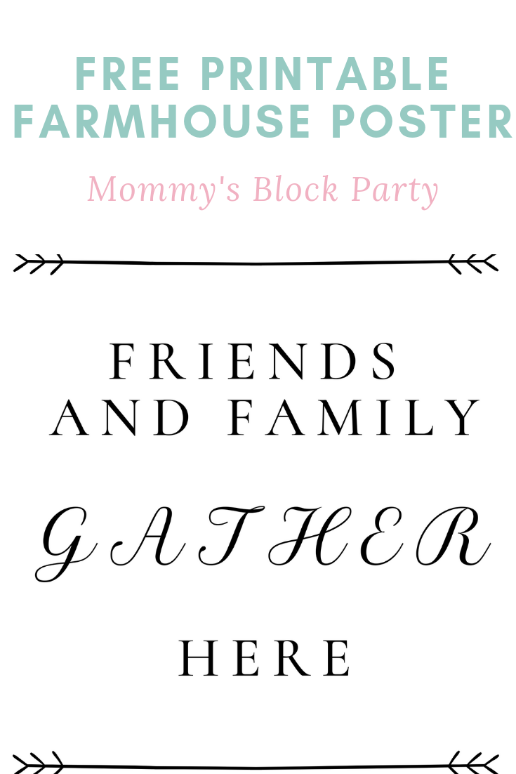 picture about Gather Printable titled Cost-free Printable Pals and Household Collect Below Farmhouse
