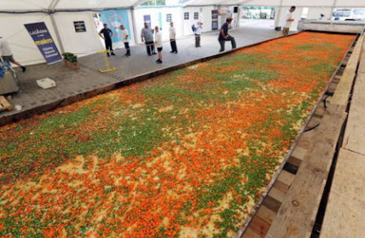 A Polish restaurant set a Guinness World Record for the biggest lasagna in the world