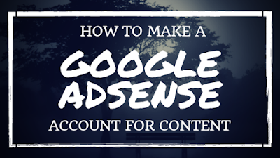 How to make a Google AdSense account • AdSense account for content [for beginners]