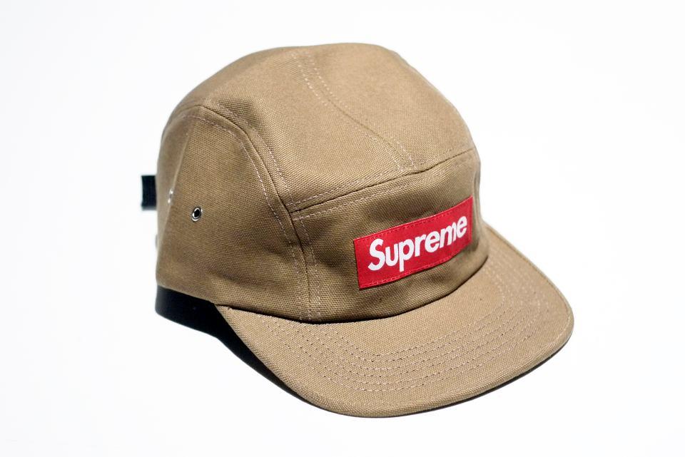 Out Of Stock) Supreme Canvas Camp Cap (Beige)  4afc943e257