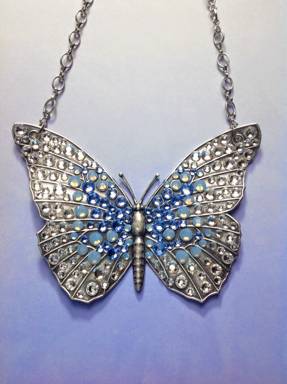 Bionic Unicorn Crystal Jewelry Ombre Crystal Butterfly