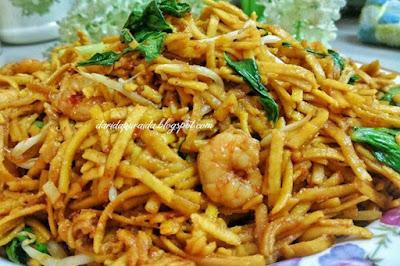Mee Sanggul Goreng,Hidangan Mudah Untuk Tetamu Di Rumah Terbuka
