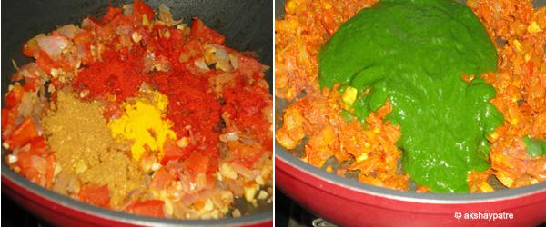 add masala and puree