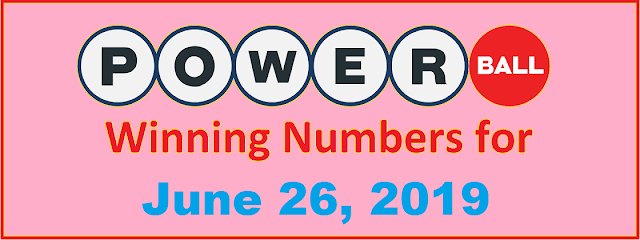 PowerBall Winning Numbers for Wednesday, June 26, 2019
