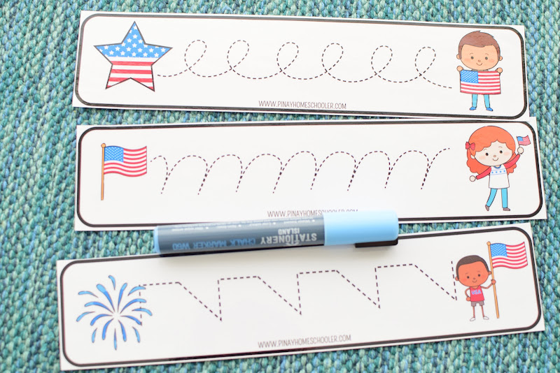4th of July Tracing Lines