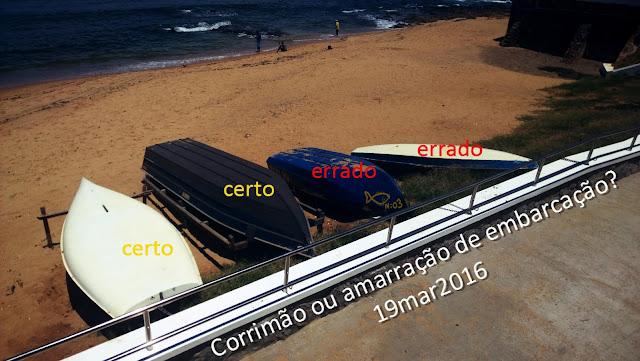 E as amarrações irregulares de embarcações permanecem na Praia de Santana