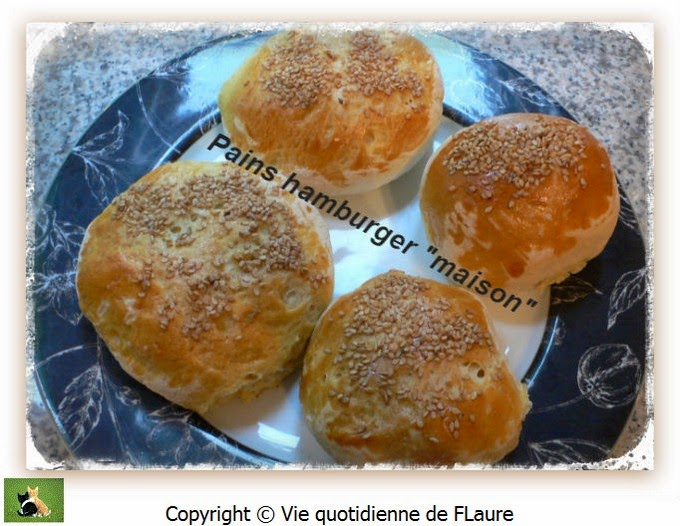 "Vie quotidienne de FLaure: Pains Hamburger ""maison"""