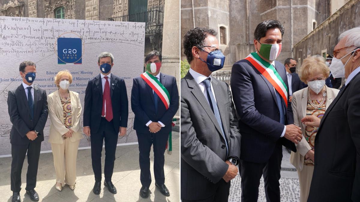 G20 Catania Monastero dei Benedettini Sindaco Pogliese
