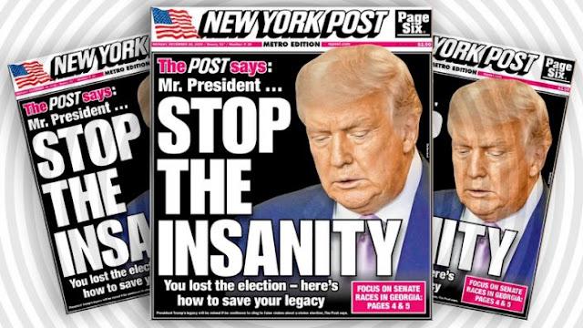 ניו יארק פאוסט צו טראמפ: דו ביזט אבסעסירט צו אוועקגיין מיט כבוד!