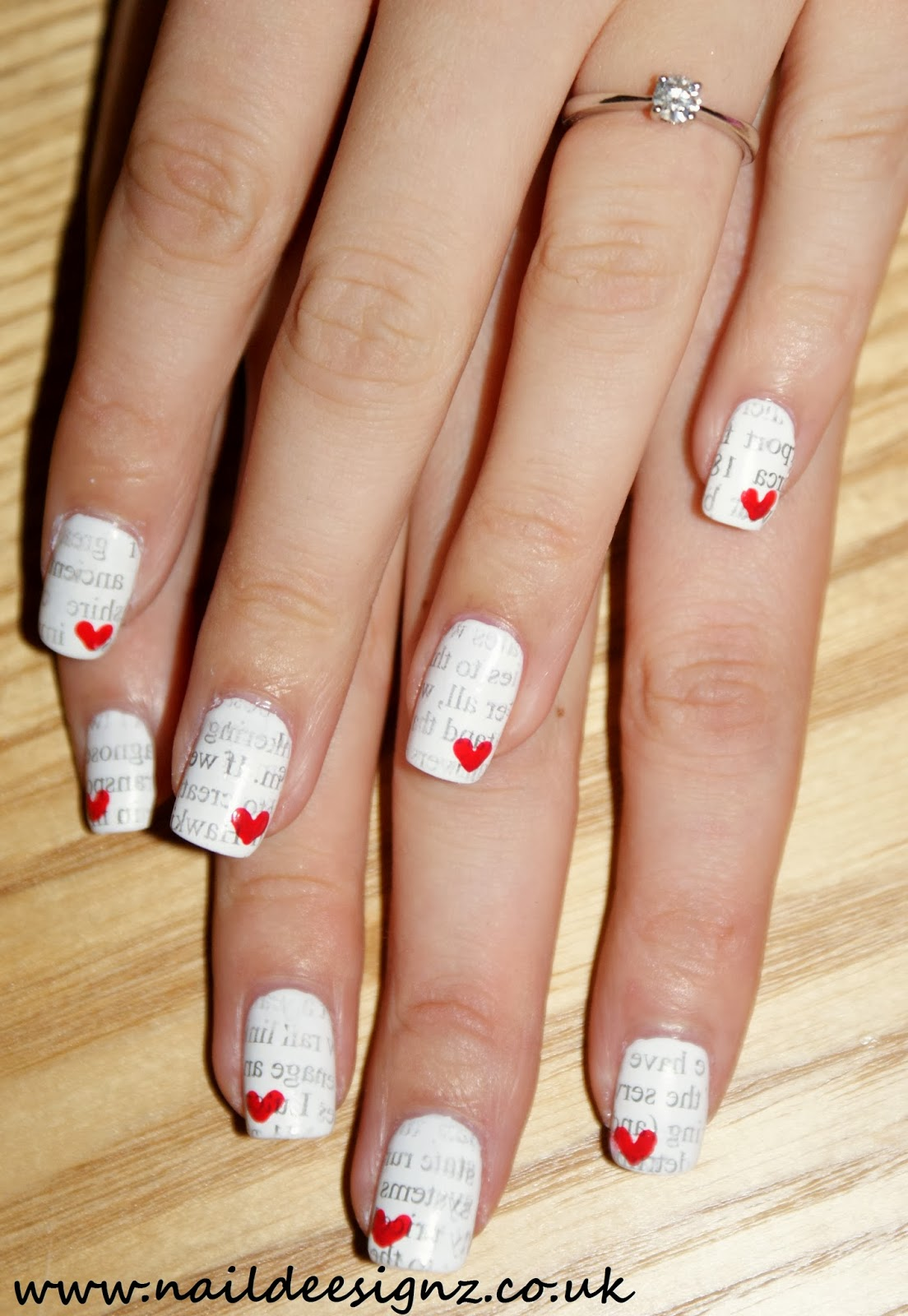 NailDeesignz: Love Letter Nail Art